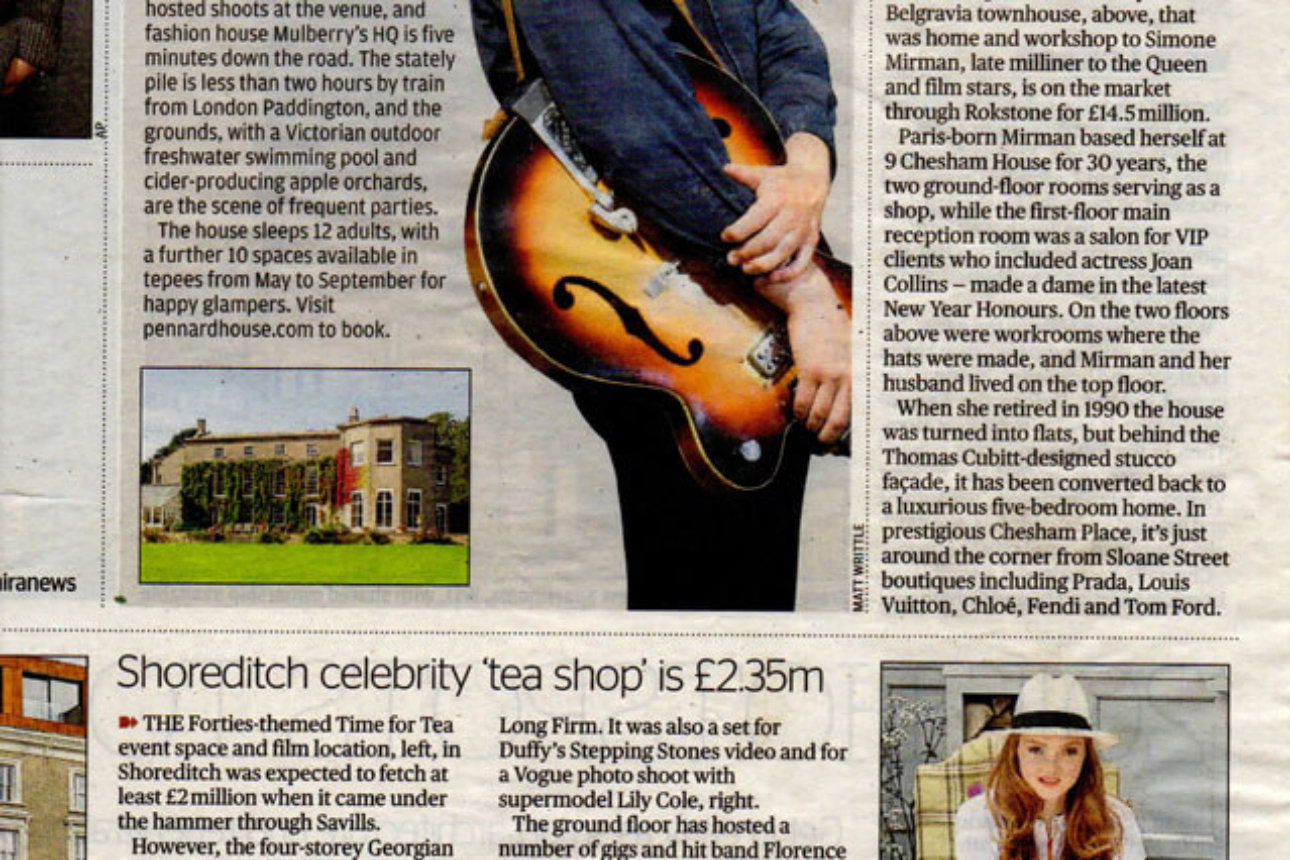 Evening Standard - 'Get the ciders in, George, January 2015