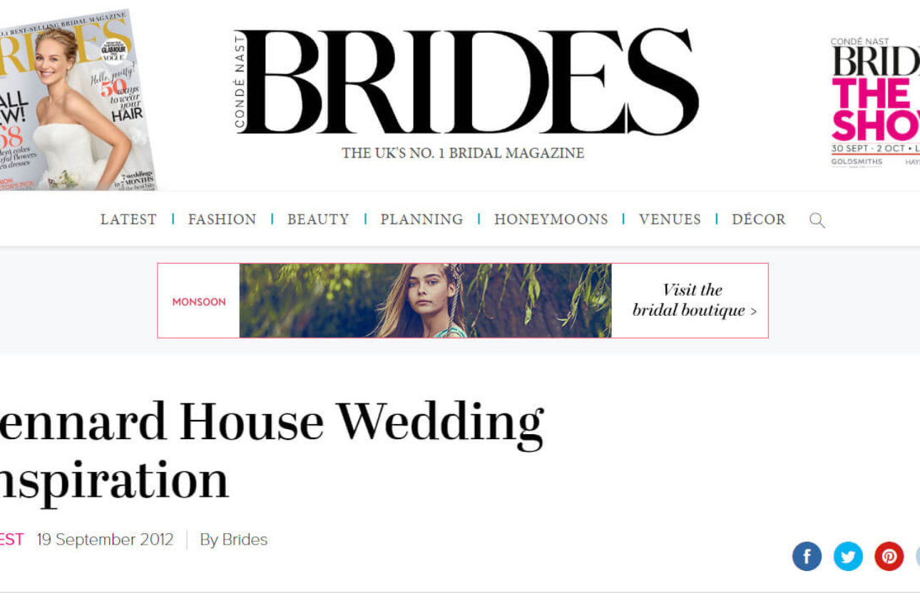 Brides Magazine Blog - 'Pennard House Wedding Inspiration, September 2012