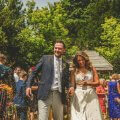 Lil and Jamie's colourful outdoor wedding
