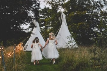 Glamping Weddings Accommodation in Tipis, Pennard House